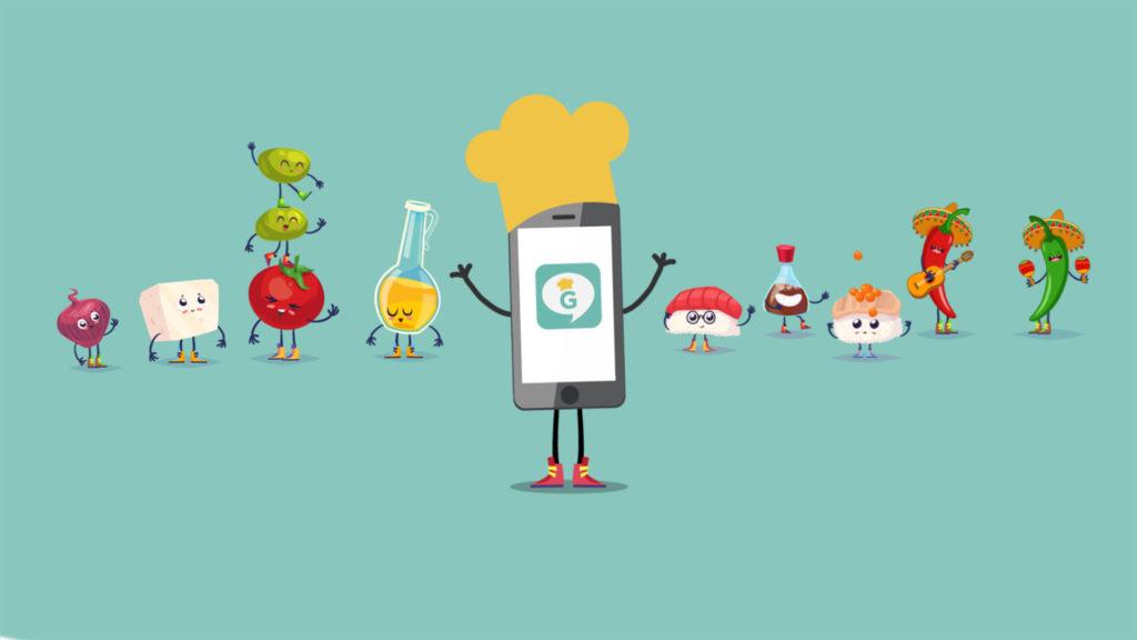 gastrotips app video animación 2D