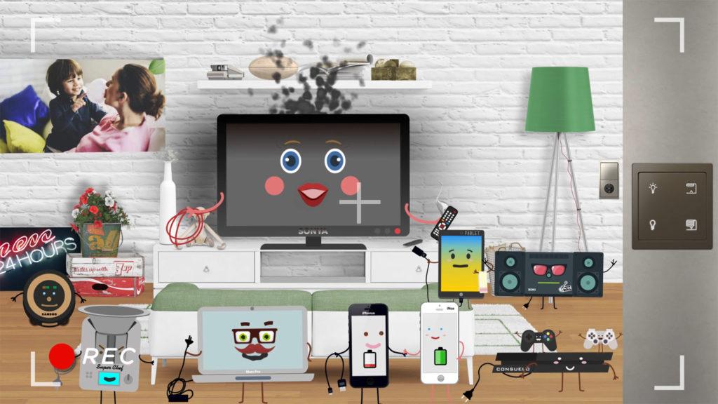 schneider electric video animacion 2d los enchufados